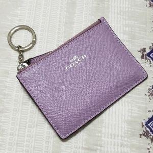 Coach F12186 Leather Mini Skinny ID Case Lilac